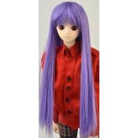 Парик с челкой средней длины, фиолетовый 3,5 inch