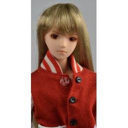 Парик с челкой, средней длины, натуральный блондин, 3,5 inch