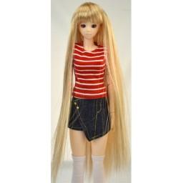 Парик с челкой, длинный, теплый блондин 4 inch