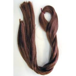 Волосы для кукол саран , цвет насыщенный каштановый.
