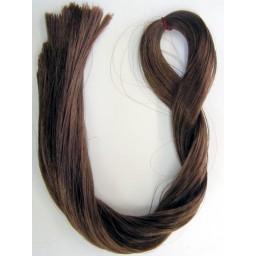 Волосы для кукол Саран. Цвет коричневый.