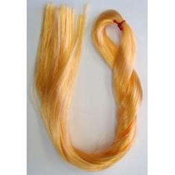 Волосы для кукол - саран , цвет золотой блондин.