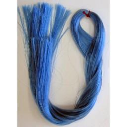 Волосы для кукол Саран. Цвет голубой.