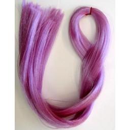 Волосы для кукол Саран. Цвет фиолетовый.