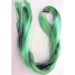 Волосы для кукол - саран , цвет зеленый.