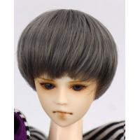 Парик короткая стрижка, термостойкий , темно-серый 3,5 inch
