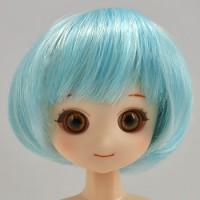 Парик короткий боб, голубой микс 4,5 inch