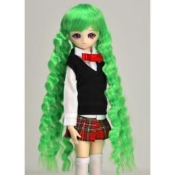 Парик волнистый 4,5 inch, зеленый