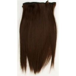 Синтетический тресс из термостойких волос, шоколадный.