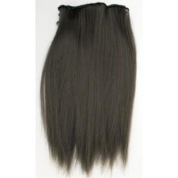 Синтетический тресс из термостойких волос, темно-серый