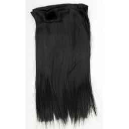 Синтетический тресс из термостойких волос, черный