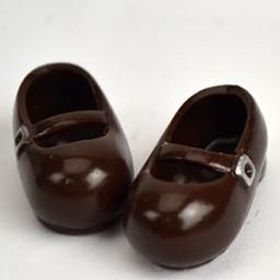 Туфельки на магнитах коричневые  для кукол Обитсу 11 см