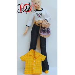 Комплект с желтой рубашкой, 4 предметов