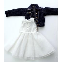 Платье и джинсовая куртка  для Обитсу 21-23, 22-24.