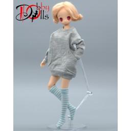 Толстовка для кукол формата 1 к 6ти серая.