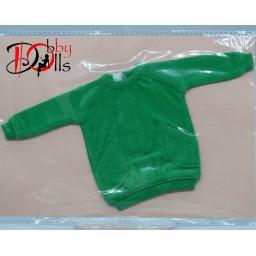 Толстовка для кукол формата 1 к 6ти, зеленая.