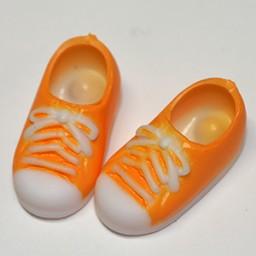 Кеды с магнитами оранжевые для кукол Обитсу 11 см