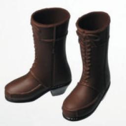 Сапожки женские для девушек Обитсу темно-коричневые