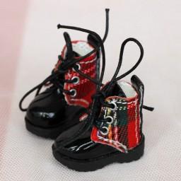 Ботиночки на подошве с протектором, шотландка
