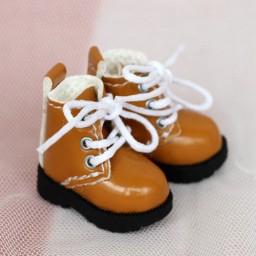Ботиночки на подошве с протектором, карамельные
