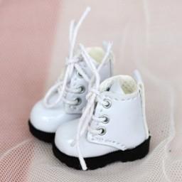 Ботиночки на подошве с протектором, белые