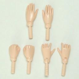 Набор дополнительных ручек для тел стройных юношей Обитсу 27 см, белый.