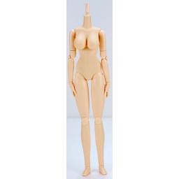 Женское тело 27 см, мягкое, грудь большая, белый тон
