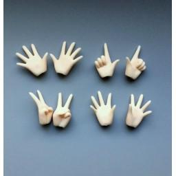 Набор дополнительных жестовых ручек для Обитсу 24, белый тон.
