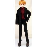 Черный костюм для стройного юноши Обитсу 27