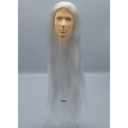 Голова юноши Синьи , модель 1 , длинные белые волосы