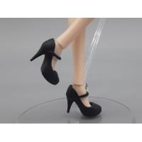 Туфельки на высоком каблуке черные