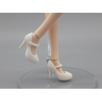 Туфельки на высоком каблуке белые